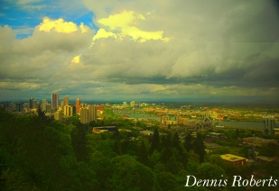 View Of Portland from the Aerial Tram